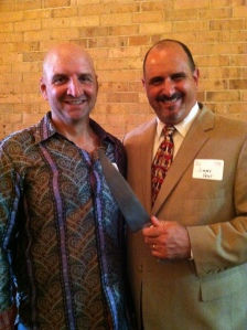 Competition Dining Founder, Jimmy Crippen (right) with Charlotte's own Steve Watkins  from Ironman Knives