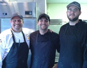 Chef David Bettendorf, left, and the team from River's edge