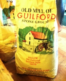 The star of the evening, Old Mill of Guilford Stone Ground Grits