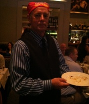 Even the waitstaff at Bonterra Dining and Wine Room got into the Texas Pete theme of the evening