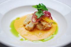 Course 1 by Chef Bruce Moffett of Barrington's Restaurant