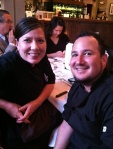 Guest Judge Chef David Quintana, right with friend Chef Kris Reid