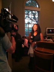 Davyee Sutton from WCNC-TV covering all the action