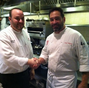 Chef Jon Fortes from Mimosa grill and Chef Brian Mottola from e2 look forward battling it out again at  Competition Dining 2014