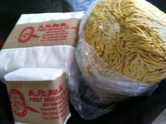 First Noodle Company freh noodles - wonton wrappers and egg noodle wrappers were one of two secret ingredients this evening
