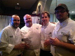 Team Mimosa with chef Ref Lawrence Willard - from left Exec Chef Jon Fortes, Chef Ref Lawrence, Chef Thomas Marlow, and Chef Joseph Cornett