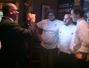 Competition Dining Creator Jimmy Crippen does a video interview with team Mimosa Grill just after the win