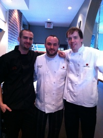 Team Mimosa Grill, from left, Chef DJ Ivey, Exec chef Jon Fortes and Chef Thomas Marlow