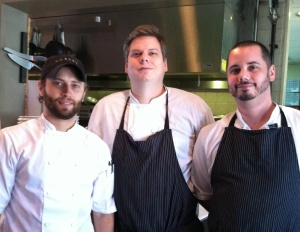 The Team from Rooster's From left, chef Zach Renner, Executive Chef Phil Barnes, and Chef Ryan Daugherty