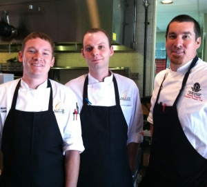 The team from Gallery Restaurant. from left, Executive Chef David Moore, Chef Chris Wrenn and Chef Michael Renfield