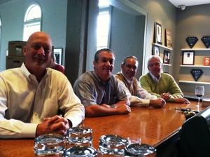 Area sales staff from Southern Foods - from left Todd, Robert, Jon and GT