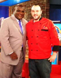Chef Jon Fortes of Mimiosa Grill and Terrance Bates of WCCB