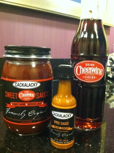 NC's own soft drink, Cheerwine, marries Cackalacky,  NC's favorite sweet potato condiment to make a sweet hot sauce you are sure to love