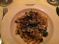 The pasta option on the Bonterra restaurant week menu