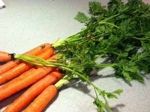 Buy organic carrots for the vey best flavor in the root and greens as well