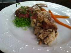 Rack of lamb with mushroom risotto from McNinch's Chef William Parham