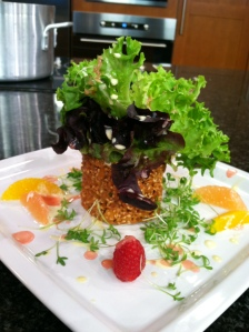 The signature salad from Zebra Restaurant
