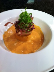 A scallop starter from the Valentine menu at Passion 8 Bistro
