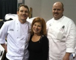Heidi Billotto with chefs David Moore and Kelly Morrow from The Gallery