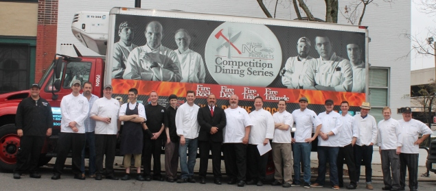 The Sixteen triad chefs who have competed in the Got to be NC Competition Dining Fire in the Triad series