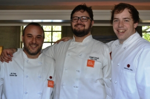 Chefs Jon Fortes, Joe Cornett and Thomas Marlow