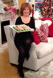 Here I am with the Seafood Platter from Ballantyne Hotel & Lodge in hand, ready to tease the Charlotte Today segment just before a commercial break