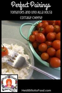 tomatoes and uno alla volta cheese