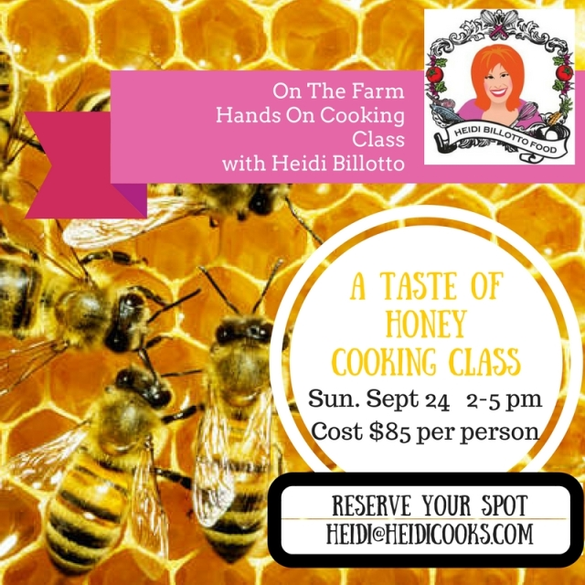newSept 24 taste of honey cooking class